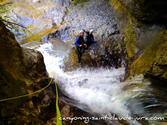 vip tour canyoning à saint claude dans le jura pays de gex geneve lausanne nyon lyon