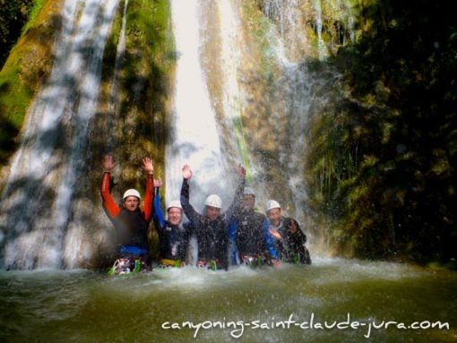 EVG et EVJF canyoning jura saint claude
